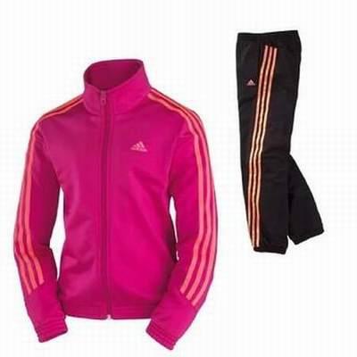 1eb35c5063aef jogging fille jennifer,survetement fille auchan,survetement adidas fille  noir et rose